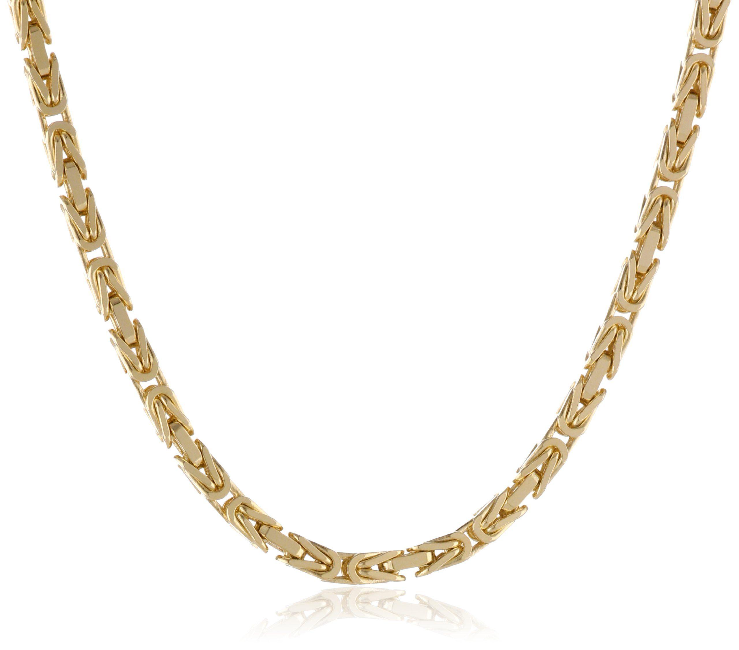 Amazon Com Men S 14k Yellow Gold 2 5mm Square Byzantine Chain Necklace 24 Jewelry Byzantine Necklace Necklace Gold