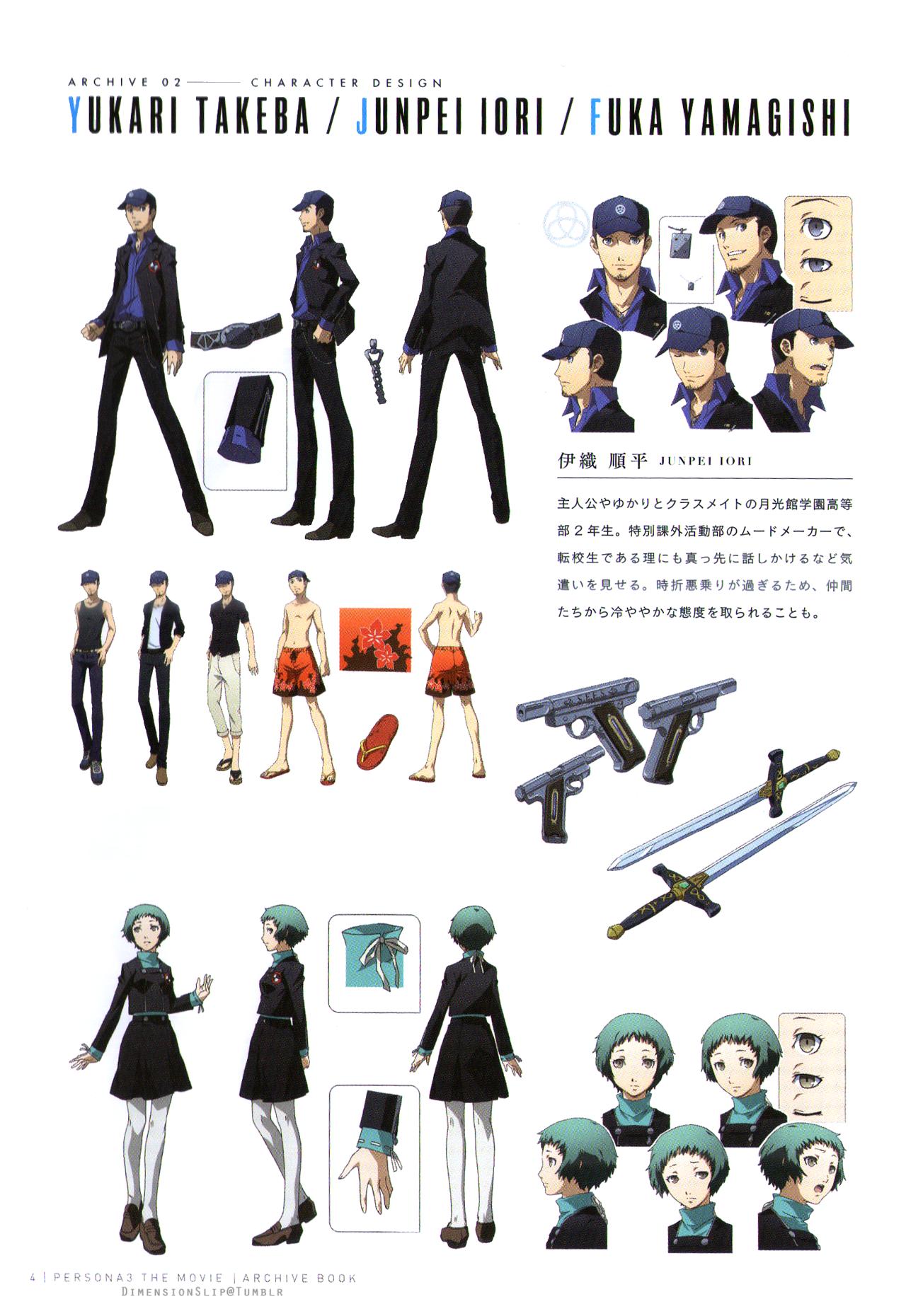 Tales Of Persona Persona Persona 3 Portable Character Concept