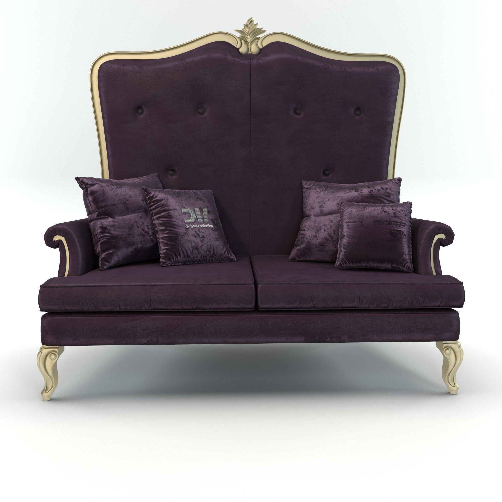 Royal Classic Elegant Italian Vogue Sofa By DV Home Collection 3D