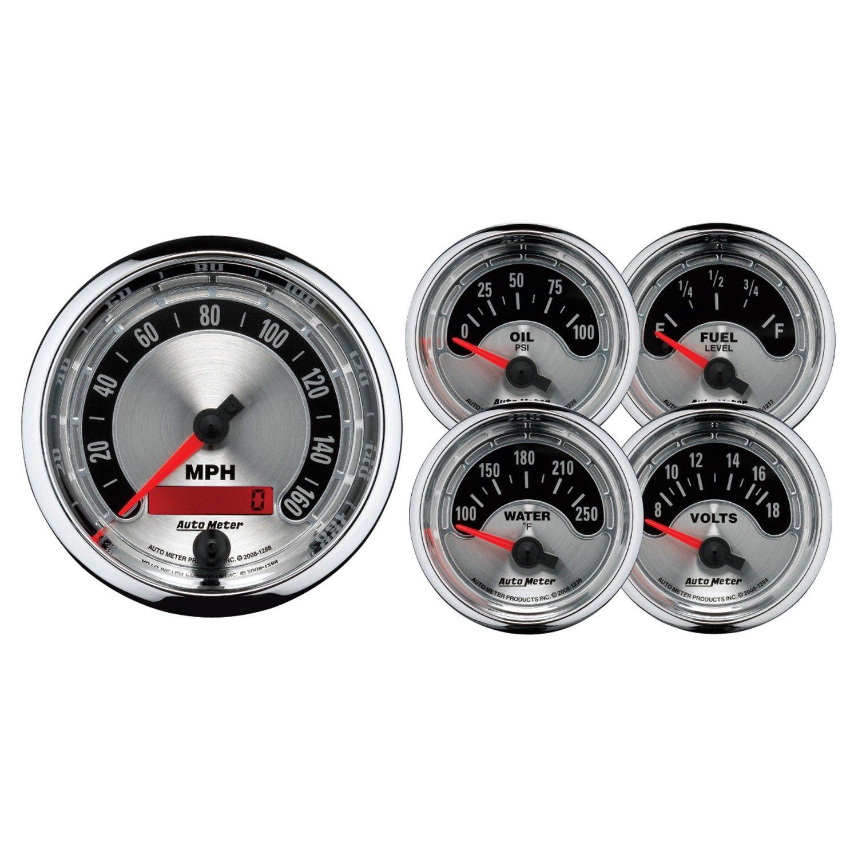 5 Pc Gauge Kit 3 3 8 2 1 16 Elec Speedometer American Muscle Gauge Kit Valve Cover Gauges