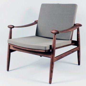 Finn Juhl 133 Chair Control Brand Mcm Kreslo Derevoobrabotka Stul