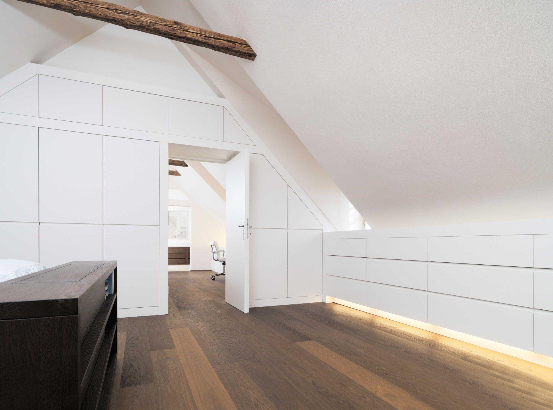 Haus G Möbelbau Breitenthaler Tischlerei Schlafzimmer Dachschräge Dachschräge Einrichten Dachgeschoss Schlafzimmer