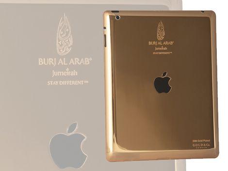 Los huéspedes tendrán nuevos mayordomos: iPads de oro de 24 quilates.