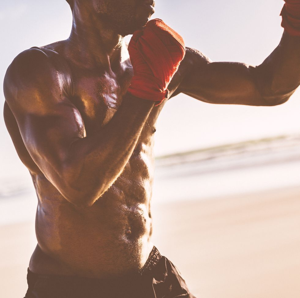 Close up of a fit male body #fitness