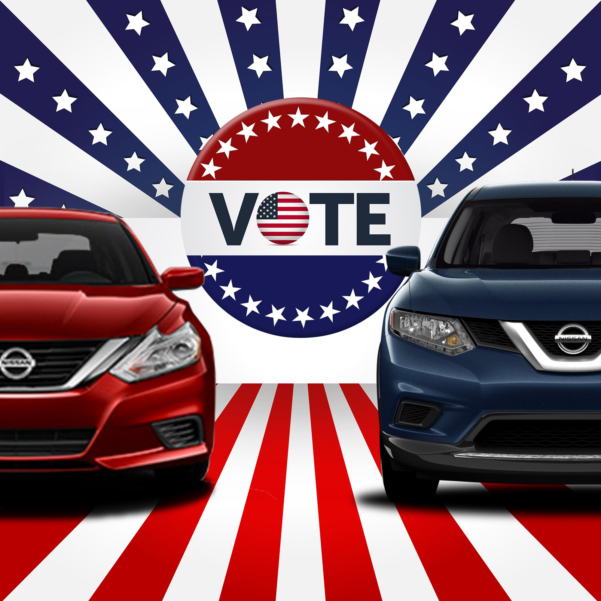 Your Choice Is Easy At Mossy Nissan Electionday Votenissan Winner Country Flags Nissan Fun