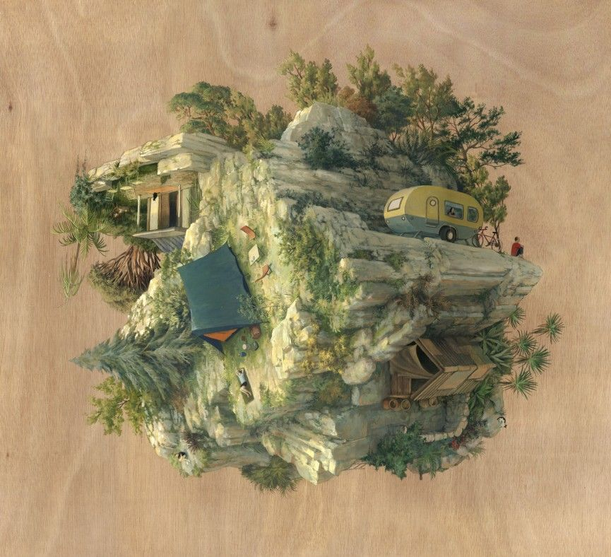 The inverted architecture and gravity defying worlds of cinta vidal