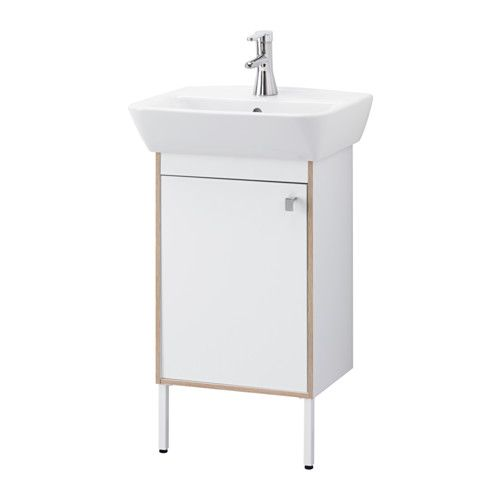 TYNGEN Washbasin cabinet with 1 door IKEA Adjustable feet for increased stability and protection against floor moisture.