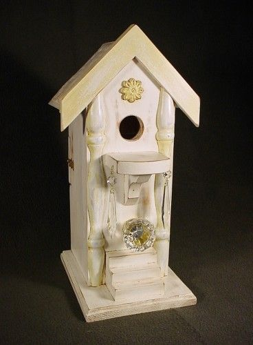 Birdhouse with ceiling tin roof handcrafted from solid pine