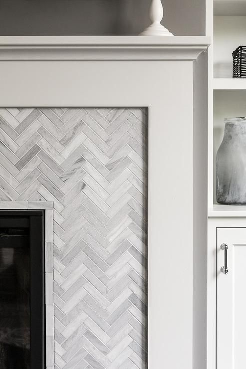 Gorgeous Fireplace Is Fitted With A White Fireplace Mantle Framing