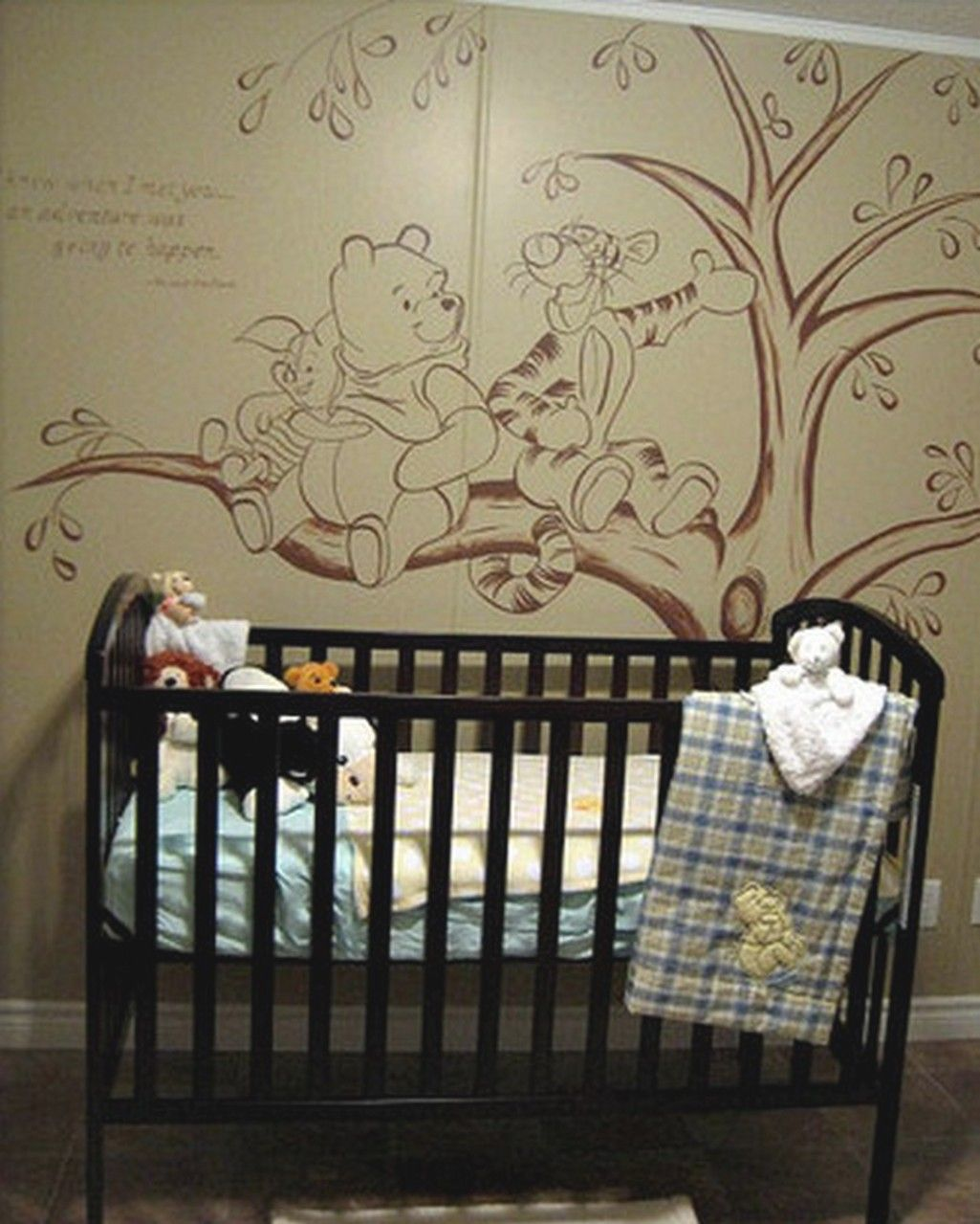 Baby Bedrooms In Lebanon: Bedroom, Classic Winnie The Pooh For Baby Nursery Decor