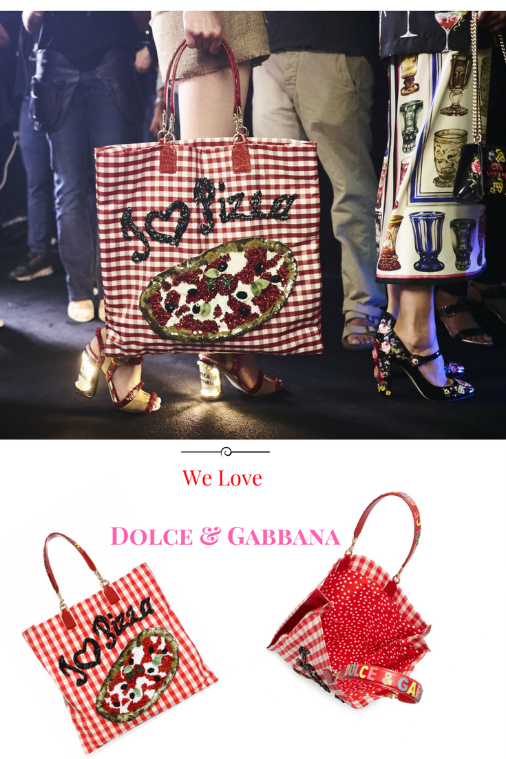 #Dolce & Gabbana I Love Pizza Sequined Bag