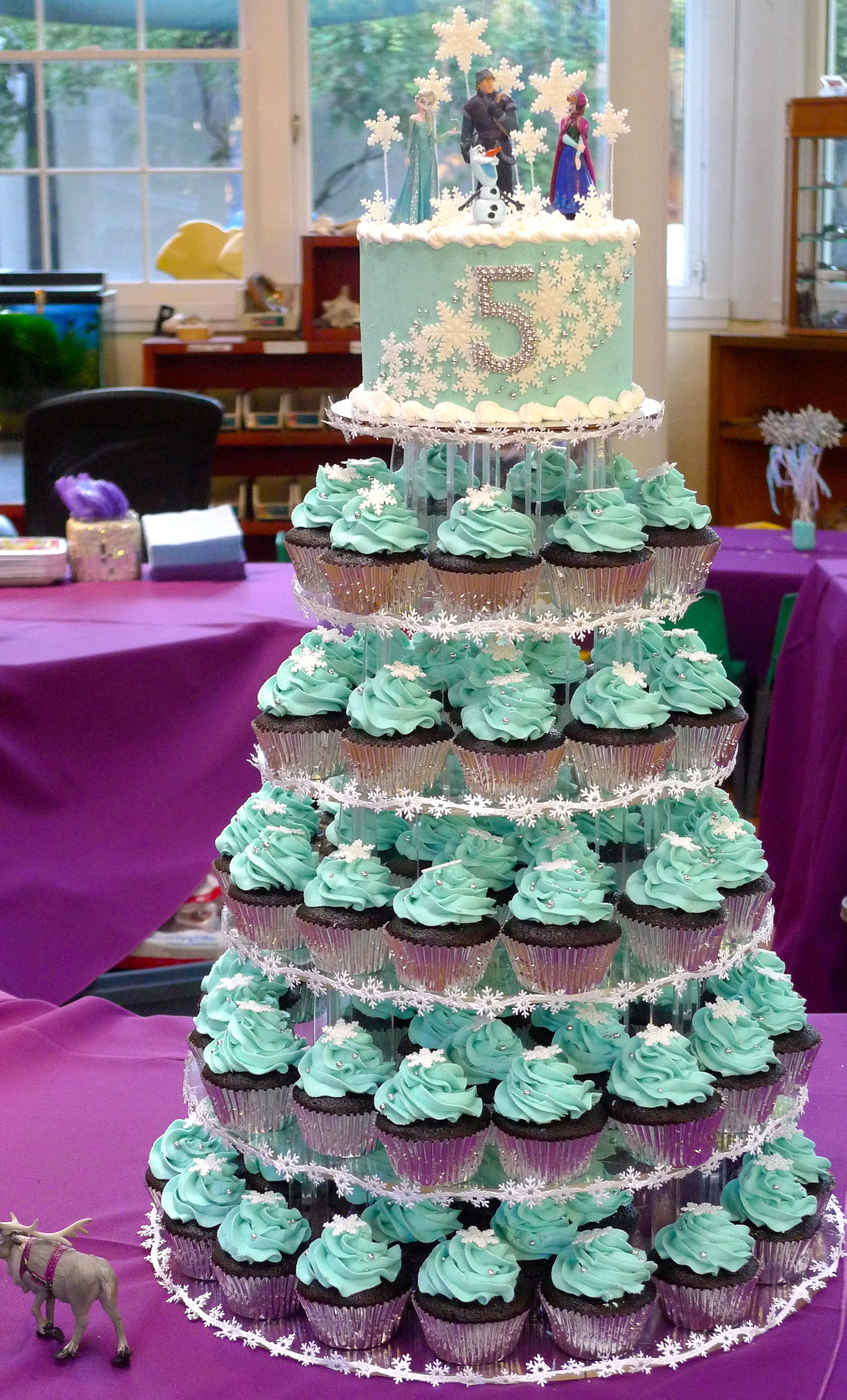 Vegan Frozen Birthday Party Cupcake Tower Frozen Birthday Party