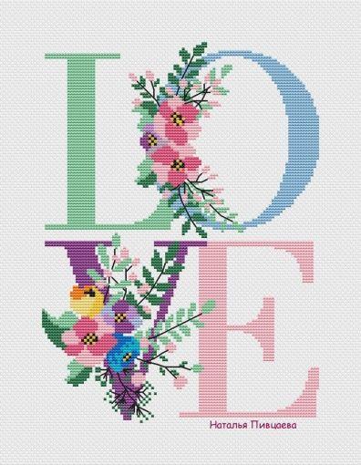Photo of Spring LOVE Cross Stitch Pattern