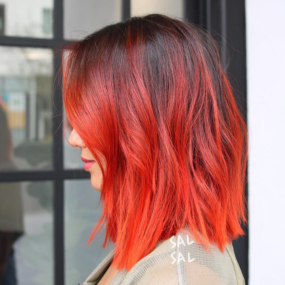 Fire bob hair stylee pinterest orange color bobs and instagram