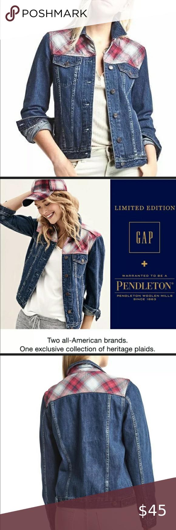 Gap Pendleton Denim Jean Jacket Xl Nwt Gap Pendleton Wool 1969 Denim Jean Jacket Xl Nwt Armpit To Armpit 22 Jean Jacket Clothes Design Denim Jean Jacket [ 1740 x 580 Pixel ]