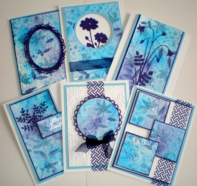 Blue on Blue card class at  http://countrylanebc.com!  welcome to country lane, the home of card and scrapbooking needs, we have the most competitive prices in town