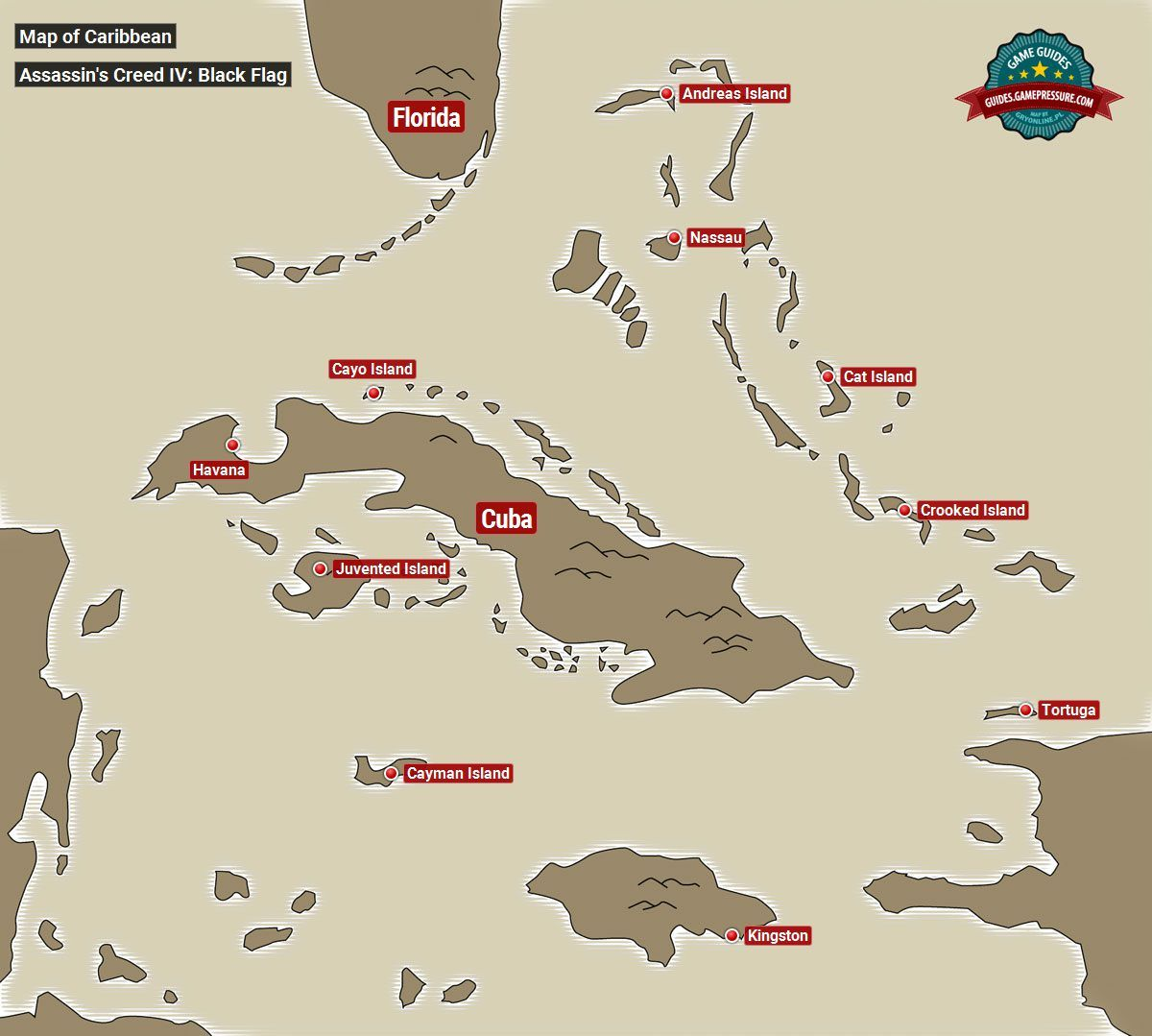 Map Of Caribbean Assassin S Creed Iv Black Flag Assassins