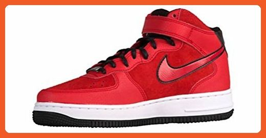 545b6fc1fc76a Nike Womens Air Force 1 07 Mid Suede Red/Black/White 807448-600 ...