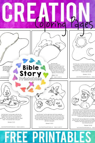 creation coloring pages free bible story coloring pages to retell