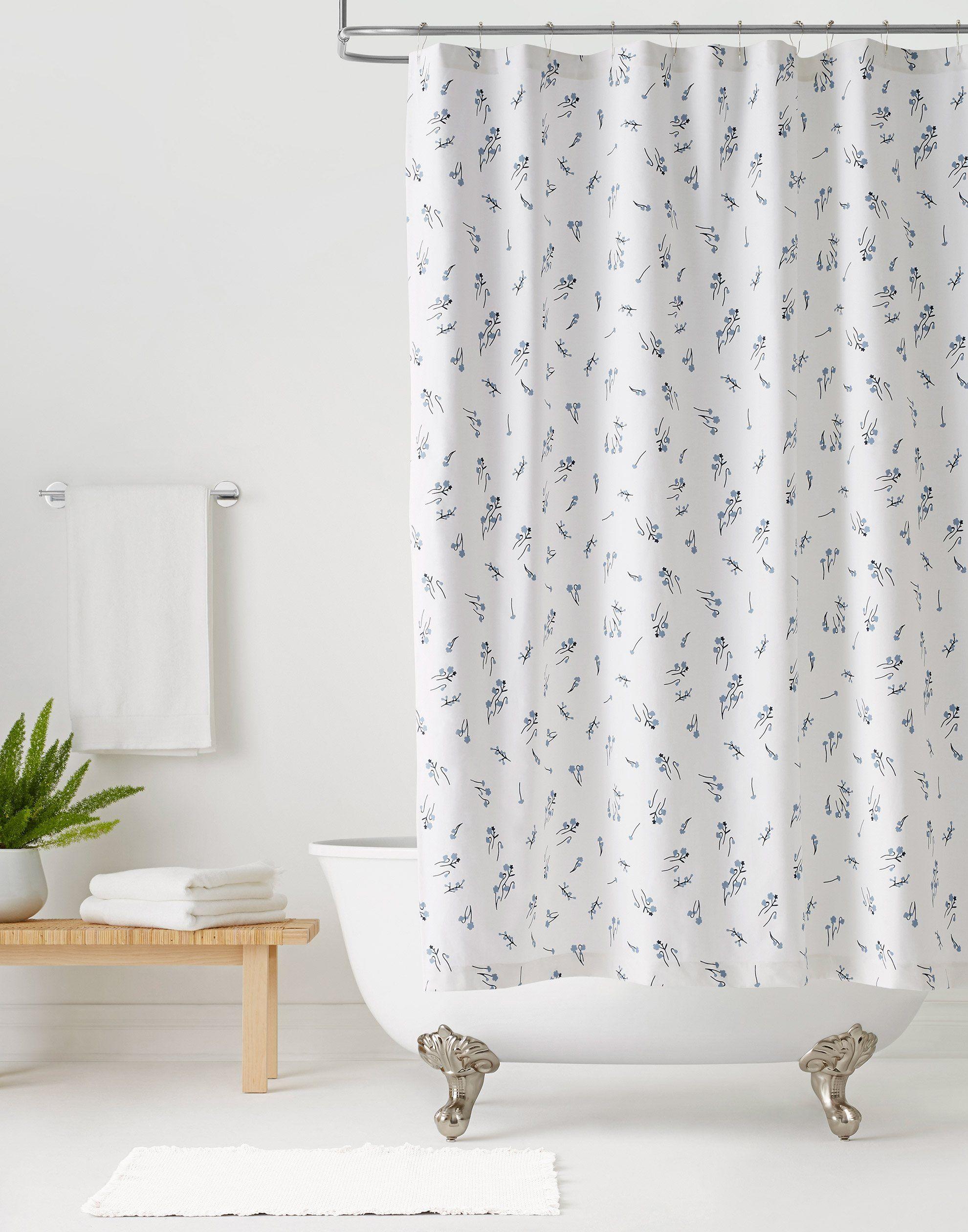 Wildflower White Shower Curtain Default Title White Shower