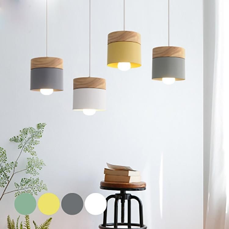 Modern Wooden Top Pendant Light #pendantlighting