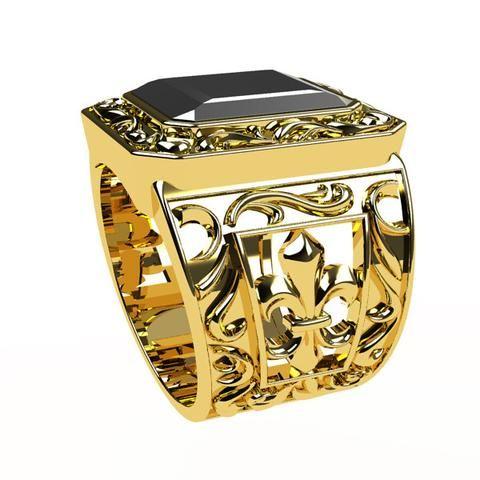 bijoux bague homme or