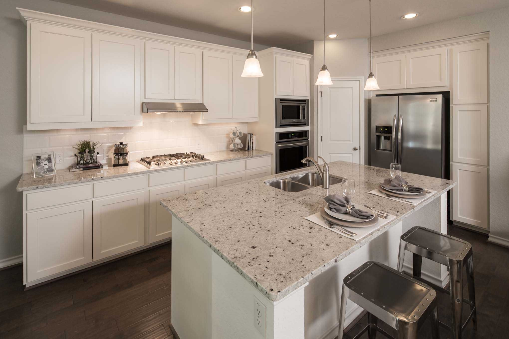 Highland Homes Plan 556 Model Home In San Antonio Texas, The Ranches At  Creekside Community