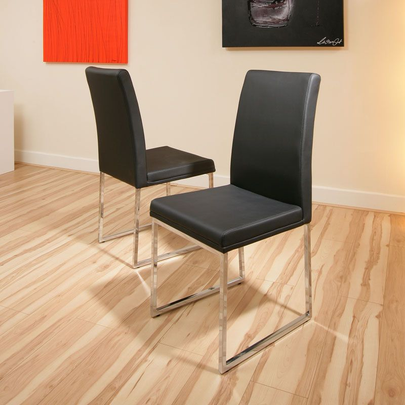 dining chair chairs set of 2 Black Modern Cafe B Preview