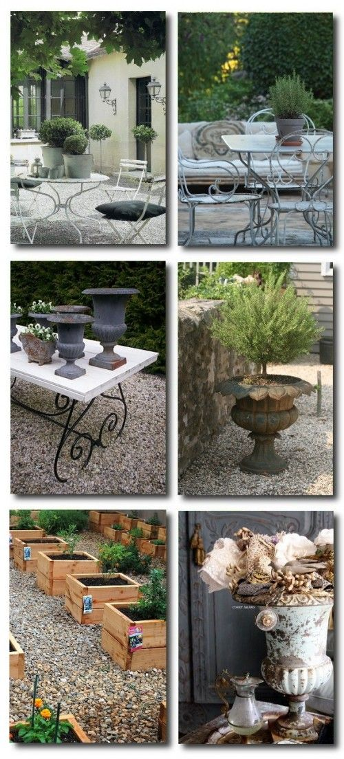 Outdoor Provence French Decorating Gardens Landscaping Old World