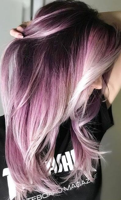 50 Dyed Hair Colors Ideas For Brunettes Galaxy Purple Blue Red Ombre Blonde Koees Blog Hair Styles Hair Color Pink Cool Hair Color