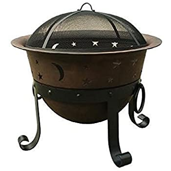 Amazonsmile Catalina Creations 29 Heavy Duty Cast Iron Fire Pit Large Wood Fire Pit Outdoor Patio Decor In 2020 Iron Fire Pit Cast Iron Fire Pit Wood Fire Pit