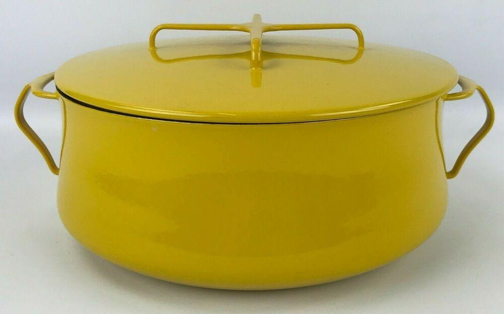 Dansk yellow enameled kobenstyle 7 qt stockpot casserole
