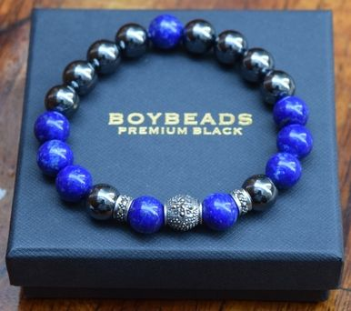 Boybeads Boy Beads Mens Bracelet Bead Bracelets Beaded Malachite Black Onyx For