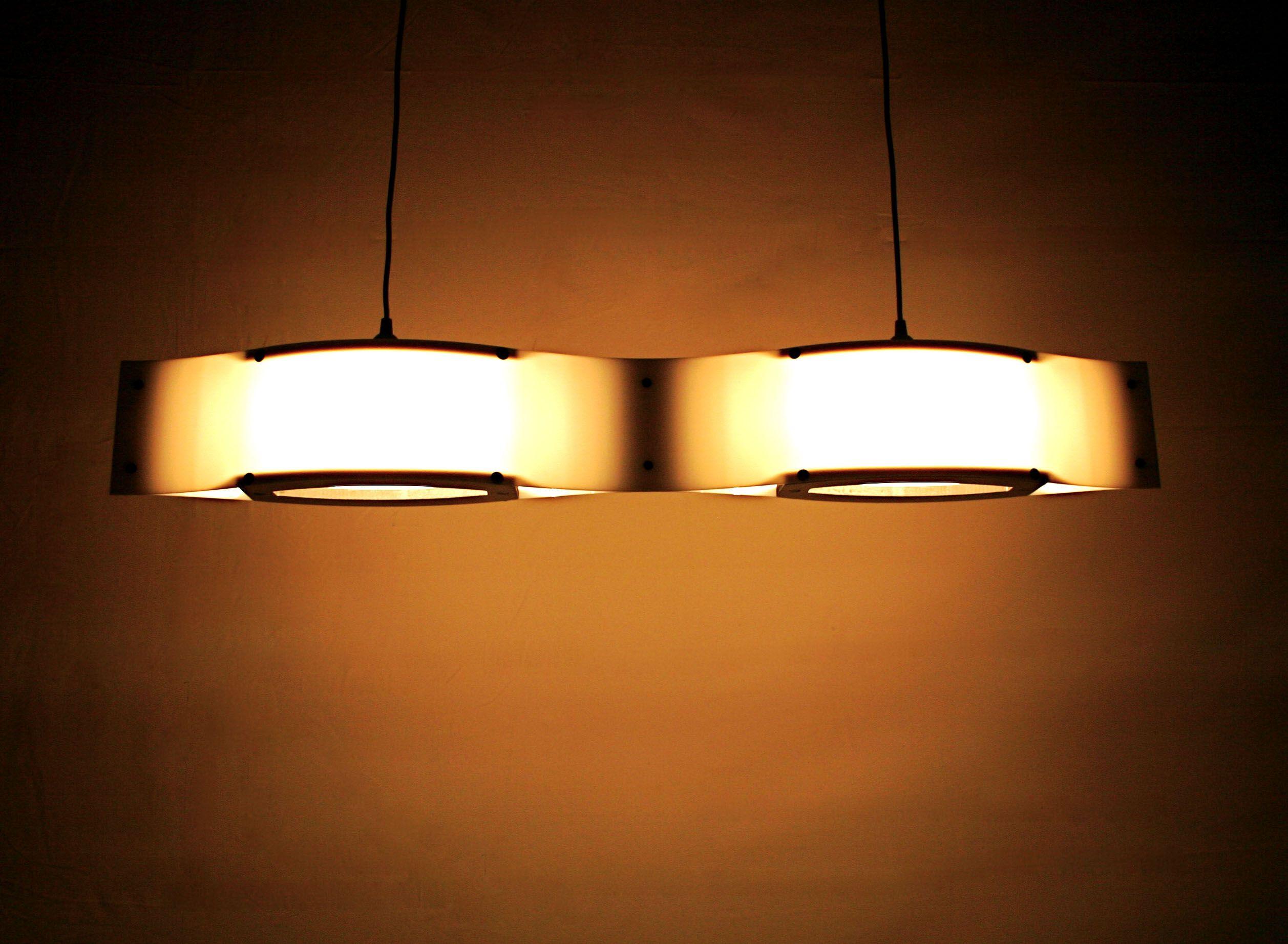 Double Wave Pendant Shiner International Lighting Work