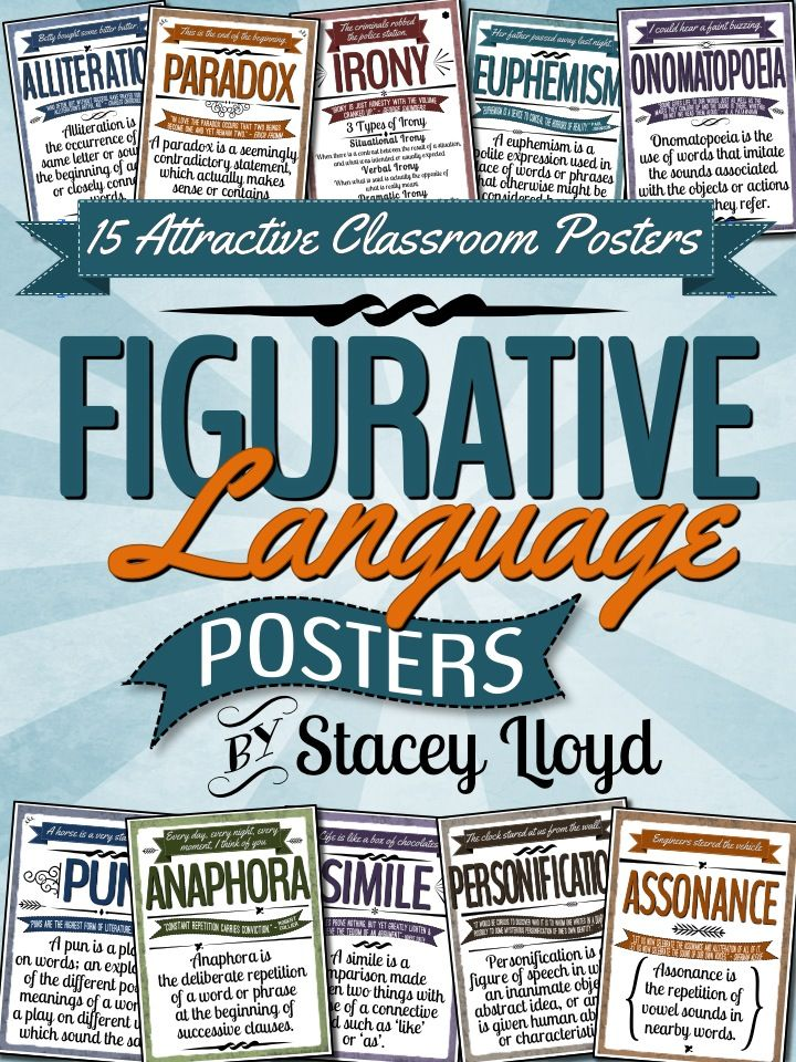 Modern Languages Classroom Posters ~ Figurative language posters school classroom high