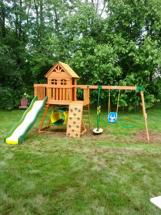 Backyard Discovery Cedar View Swing Set backyard discovery cedar view playset from @bj's wholesale club