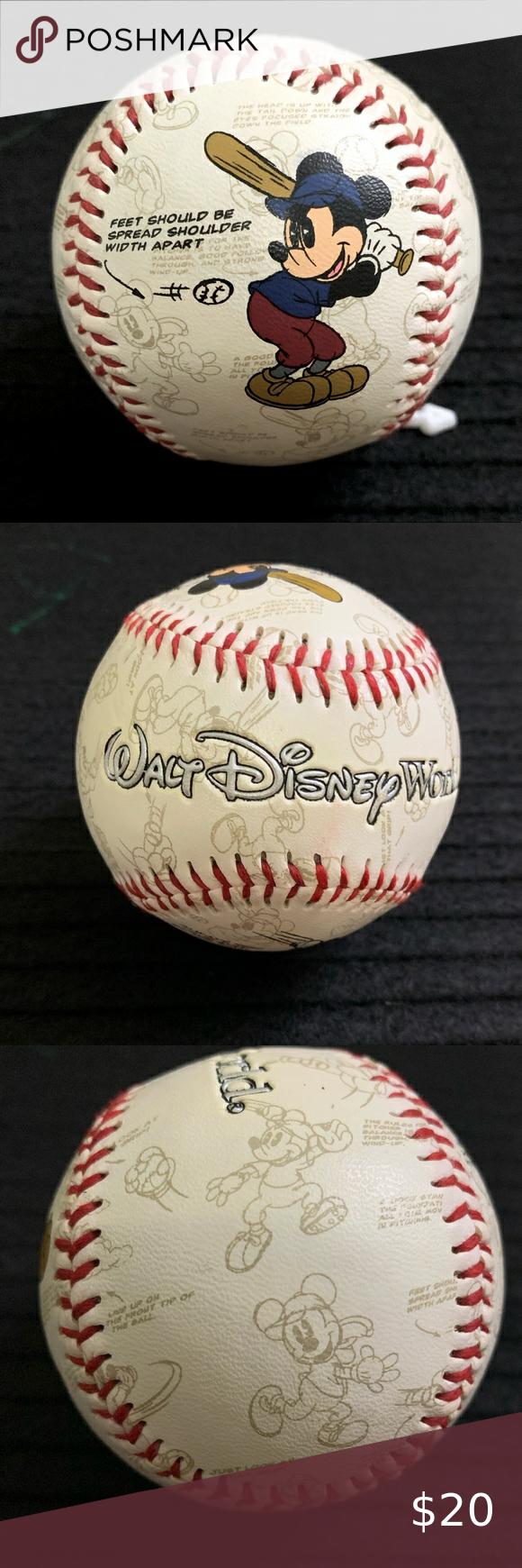 Official Walt Disney World Baseball Mickey Ball Disney World Walt Disney Walt Disney World