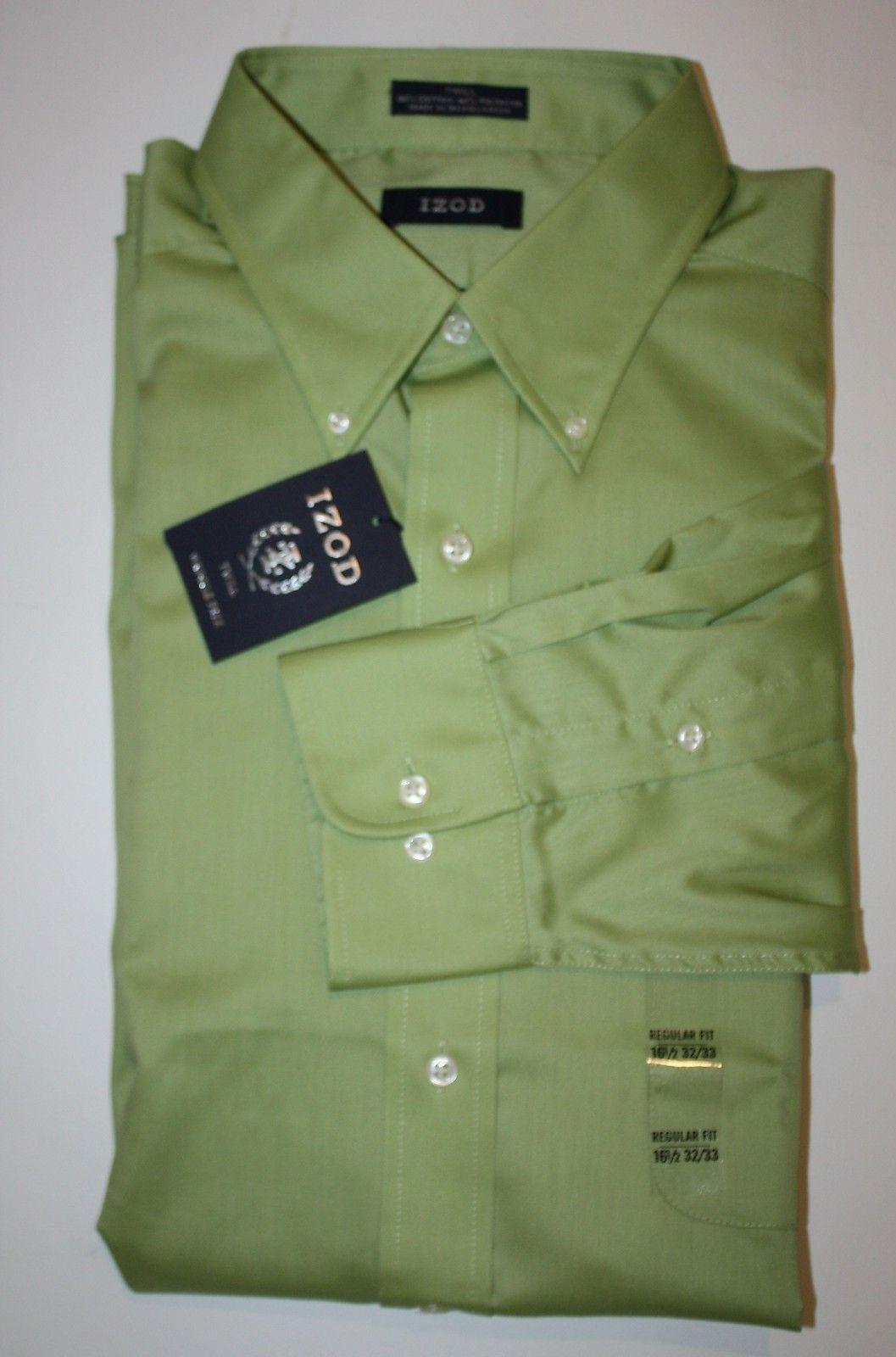Izod Mens Long-Sleeve Regular-Fit Wrinkle-Free Checked Shirt