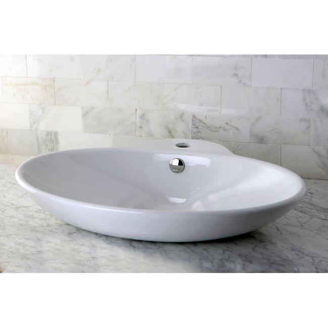 Kingston Br Oval Vitreous China Vessel Bathroom Sink White