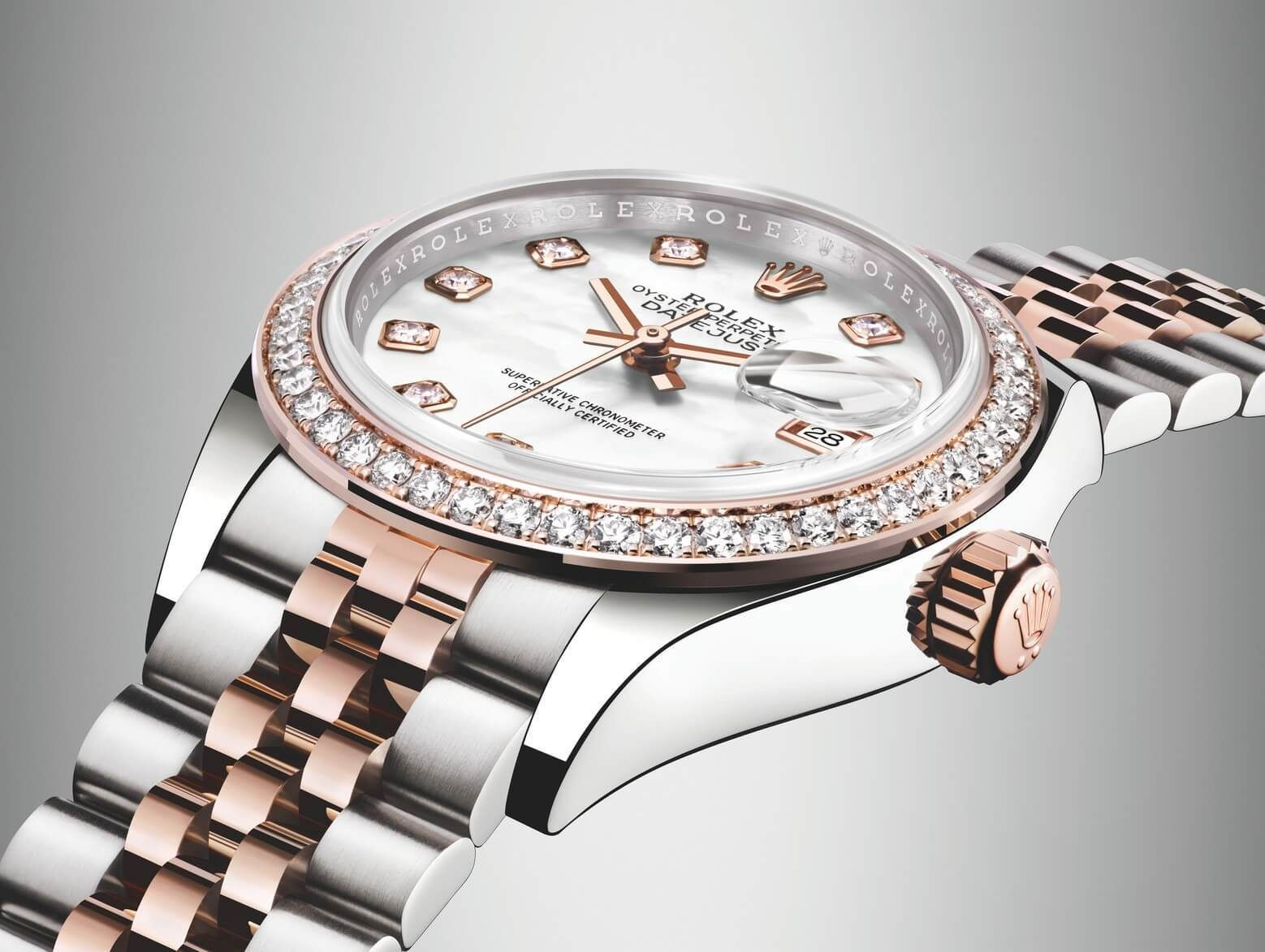1ff10fdde31 The two-tone rose gold and stainless steel Lady-Datejust 28 is the latest  model to join the most popular collection of Rolex women s watches.