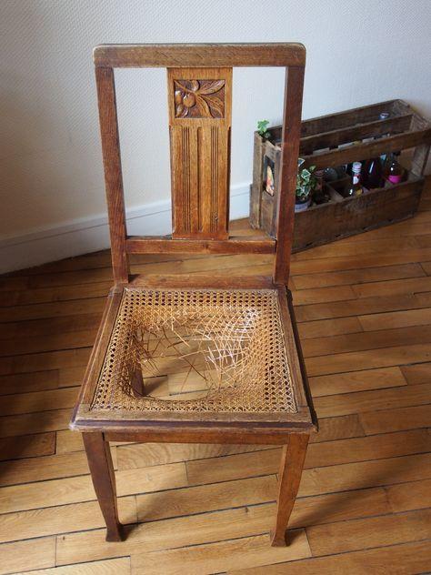 Tuto : Restauration de chaise!  Relooking de chaise