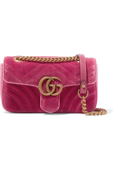 fea3b8b97cb3 Gucci - GG Marmont mini quilted velvet shoulder bag | get on my body ...