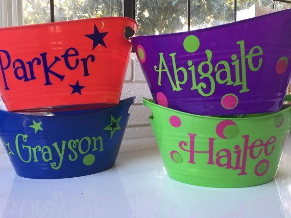 Personalized oval tub with high quality vinyl for easter by personalized oval tub with high quality vinyl for easter by bricolagecraftsupply on etsy negle Choice Image