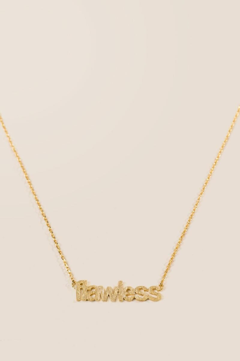 Flawless brass pendant necklace gold alternate must have