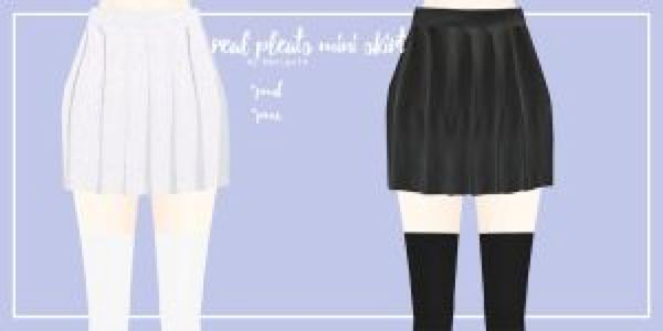 Real Pleats Mini Skirt By Mari Ichi On At Deviantart Mmd Mini