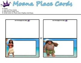 Free moana printable crafts activities and party supplies moana moana and maui printable place cards by skgaleana free moana printable crafts activities and party supplies bookmarktalkfo Image collections