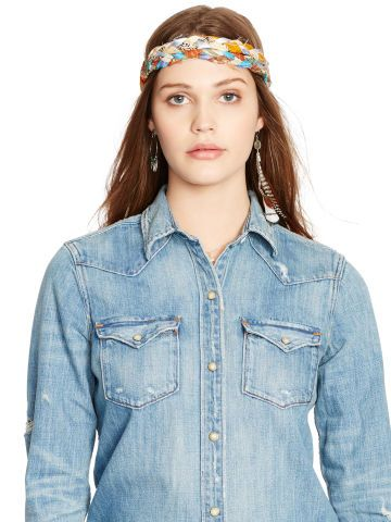 Boyfriend Western Shirt - Denim & Supply  Long-Sleeve - RalphLauren.com