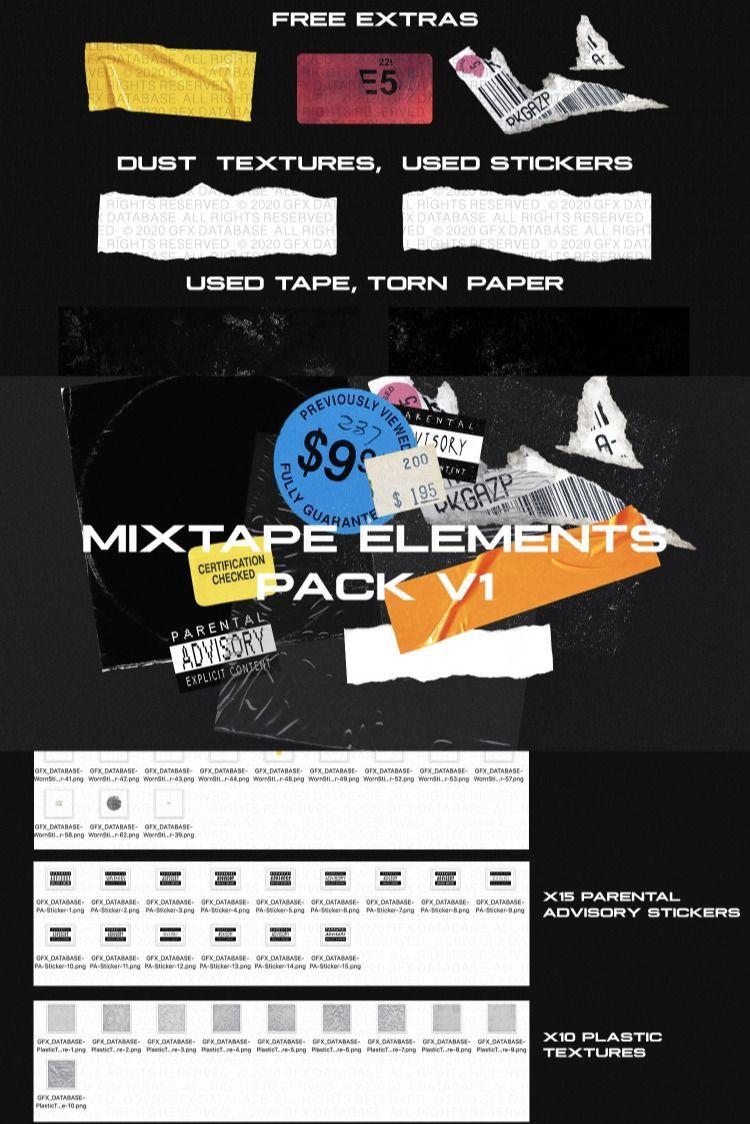 Mixtape Elements Pack V1 Mixtape Mixtape Cover Eye Texture