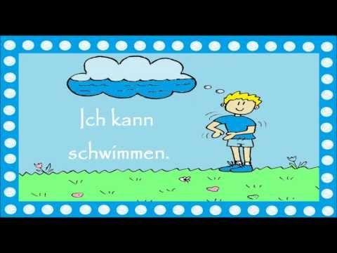 Deutsch lernen: 17 einfache Verben im Kontext (für Kinder & für Große) +traduction / перевод - YouTube