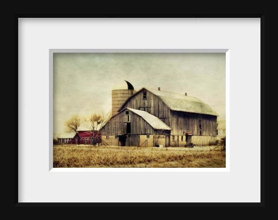 Rustic Barn Print Old Country Barn Photograph by FirstLightPhoto